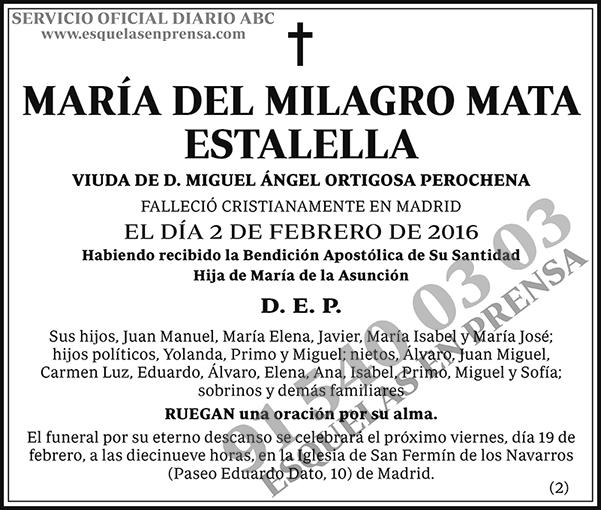 María del Milagro Mata Estalella